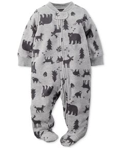 Carter's Baby Boys' Wildlife Footed Pajamas