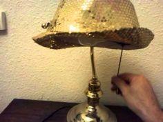A litte bit of creativity a hat becaming a lamp.... Chapeau lamp!