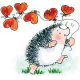 Valentines Day Hedgehog Hearts Wood Mounted Rubber Stamp Penny Black for sale online Penny Black Karten, Penny Black Cards, Hedgehog Art, Graffiti Art, Vogel Silhouette, Rock Painting Ideas Easy, Happy Paintings, Heart Balloons, Heartfelt Creations