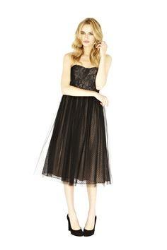 We heart this Oasis Lace Prom Dress inspired by inspired by a vintage Tulle Ballerina Dress from the 50's.
