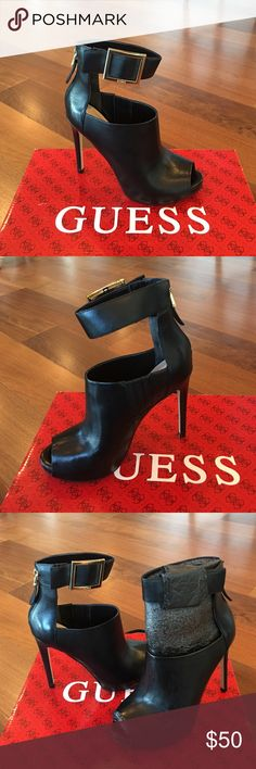 1762754683821 NEW Guess Leather Heels Leather Guess heels. Size 6. Brand new