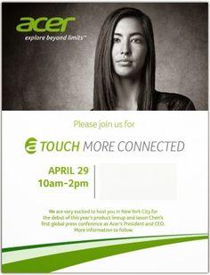 Acer programma un evento il 29 aprile: in arrivo novità per Android? - http://www.tecnoandroid.it/acer-programma-un-evento-il-29-aprile-in-arrivo-novita-per-android/