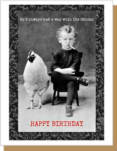 Chicks - Happy Birthday Funny - Funny Birthday meme - - Designed in Brooklyn NY and printed in the USA Materials: paper eco friendly compostable sleeve greeting card blank inside SKU: The post Chicks appeared first on Gag Dad.
