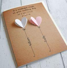 Homemade Wedding Cards, Wedding Cards Handmade, Homemade Cards, Diy Wedding Gifts, Card Wedding, Cricut Wedding, Tarjetas Diy, Rustic Boho Wedding, Trendy Wedding