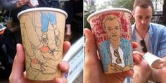 Artist uses cups as canvas for documenting everyday life in Tokyo