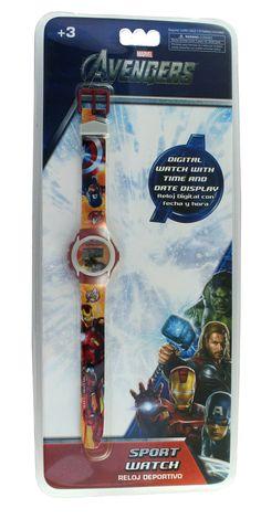 Montre digitale Avengers pour garçon. Avec écran LCD, votre enfant n'aura aucun mal à parfaire son apprentissage. #montredigitale #avengers #montrelcd