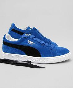 black and blue puma shoes