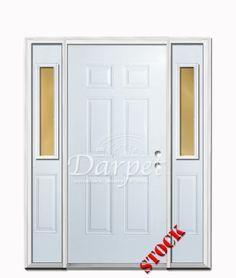 2 panel square steel exterior 6 8 double door darpet for Darpet