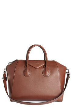 a07887bc342f Givenchy  Medium Antigona  Sugar Leather Satchel available at  Nordstrom  Brown Leather Satchel