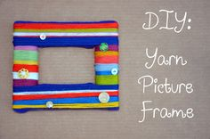 DIY Yarn Crafts: DIY Crafts: DIY Yarn Picture Frames