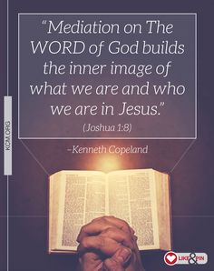 Learn more about why meditating on what God says is vital to your life: http://www.kcm.org/real-help/spiritual-growth/apply/why-it-so-important-meditate-gods-word  #MeditatetheWord #OneWordFromGod
