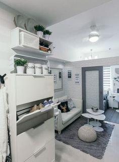 Small Condominium Interior Design Ideas - Home Interior Design Ideas Condo Interior Design, Small Apartment Interior, Condo Design, House Design, Furniture Design, Apartment Furniture, Diy Furniture, Small Apartment Layout, White Apartment