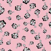 And the Cow Says Mu - Pink - studiofibonacci - Spoonflower