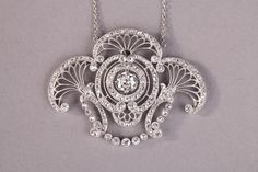 awesome Collier en platine, diamants - Vers 1920 Belle Epoque