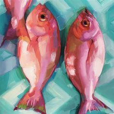 "Daily Paintworks - ""Fish Study 13"" - Original Fine Art for Sale - © Holly Storlie"