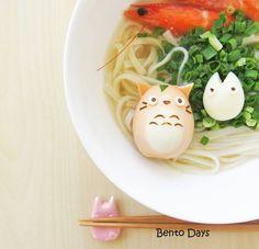 Busy morning so no bento today - wishing I had this Totoro breakfast! by bentodays_