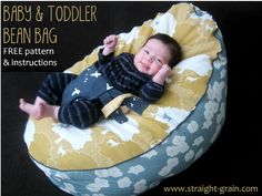 Free pattern and tutorial: Baby and toddler bean bag - StraightGrain