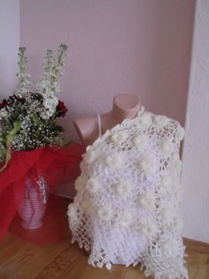 Bridal shawl/Crochet  shawl bridal fionce by redrosewholesaler, $54.50