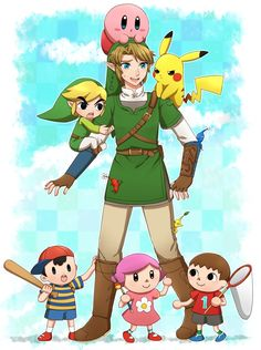 Super Smash Bros.<<<<<Link was always good with kids....ya need proof? Look at the beginning of Twilight princess