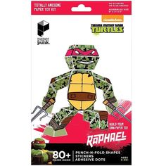 Paper Punk Teenage Mutant NinjaTurtle Raphael Build Your Own Paper NIB FREE SHIP #PaperPunk