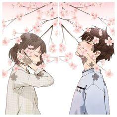 50 Ideas wall paper celular casal fofo for 2019 Cute Couple Art, Anime Love Couple, Cute Anime Couples, Kawaii Anime Girl, Anime Art Girl, Anime Guys, Anime Couples Drawings, Couple Drawings, Cute Couple Wallpaper