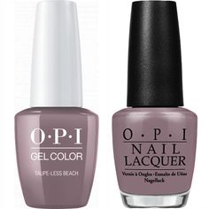 OPI GelColor + Matching Lacquer Taupe-Less Beach #A61