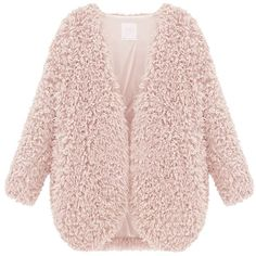 Fedi Apparel Women's Winter Warm Faux Fur Cape Coat Open Front... ($13) ❤ liked on Polyvore featuring outerwear, jackets, coats, abrigos, coats & jackets, open front cardigan, pink cape coat, pink cape, fake fur cape and faux fur cape