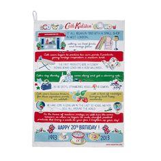 20th Birthday Collection | Tea Towel, Birthday Placement | CathKidston