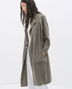 ZARA - WOMAN - LOOSE FIT TRENCH COAT WITH BUCKLES