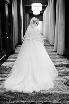 This Morilee gown and her long veil are so dramatic, perfect for a day where all eyes will be on this Milwaukee bride, photo by Front Room Studios Bride Photography, All About Eyes, Milwaukee, Veil, Studios, Gowns, Wedding Dresses, Room, Fashion