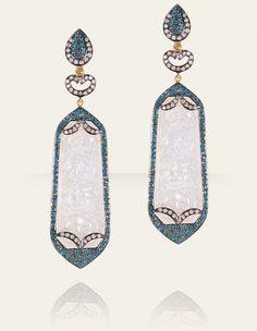 Blue Diamonds and White Jade