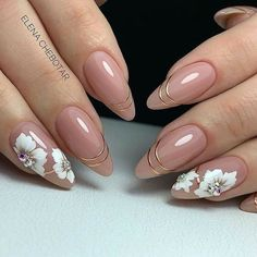 Nude Nails, Nail Manicure, Pink Nails, French Manicure Designs, Cute Nail Designs, Pretty Nail Art, Great Nails, Garra, Flower Nails