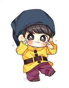 Freetoedit bts chibi jungkook - sticker by editxall Jungkook Fanart, Jungkook Lindo, Fanart Bts, Vkook Fanart, Jungkook Cute, Bts Chibi, Anime Chibi, Bts Anime, Anime Naruto