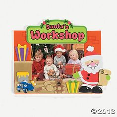 """Santa's Workshop"" Photo Frame Craft Kit - $7.25, makes a dozen"