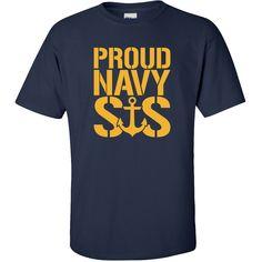 Amazon.com: Proud Navy Sister Short Sleeve T-Shirt: Clothing #navysister #navyapparel #military