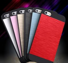 Cheap phone cases, Buy Quality case hot directly from China cover for Suppliers: SE Phone Cases Hot Selling Brush Color Aluminum + Plastic Dual Layer Protective Cover For Apple iPhone 5 SE Accessories Cheap Phone Cases, Mobile Phone Cases, Apple Iphone 5, Iphone 4s, Aluminum Metal, Gadgets, Cover, Accessories, Plastic