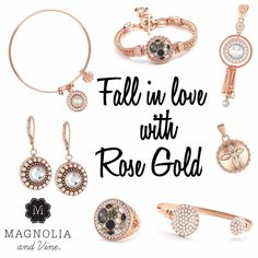 7e908ce4d8733 Magnolia and Vine Rose Gold ~ Magnolia and Vine is Interchangeable Jewellery  and Accessories that can be changed in a Snap! Buy 4 Snaps