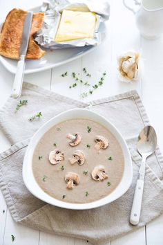 Mushroom and Roasted Garlic Soup recipe