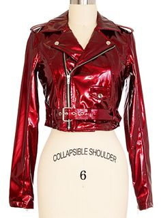 Lip Service Candy Apple Moto Jacket by Lip Service Clothing, Clothing, Red