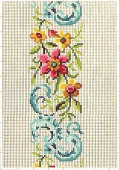 . Cross Stitch Needles, Cute Cross Stitch, Cross Stitch Borders, Cross Stitch Rose, Cross Stitch Flowers, Cross Stitch Charts, Cross Stitch Designs, Cross Stitching, Cross Stitch Embroidery