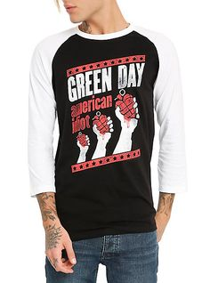 Green Day American Idiot Raglan   Hot Topic I need to go to hot topic RIGHT NOW