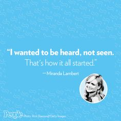 Miranda Lambert sure has a way with words, y'all!  http://www.people.com/people/country/