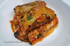 Gourmet Girl Cooks: Grilled Zucchini Lasagna - Low Carb and Grain Free