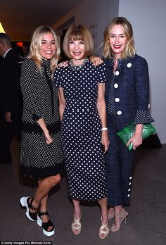 Oh no! Vogue editor Anna Wintour was also there; here she is with Emily and Sienna