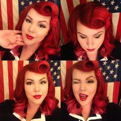Lauren Franz-Maurer at Mint Hair Studio in Scottsdale, Arizona. Rockabilly Hair, Rockabilly Fashion, Rockabilly Style, Retro Hairstyles, Wedding Hairstyles, Locks, Moda Pinup, Pin Up Looks, Estilo Pin Up