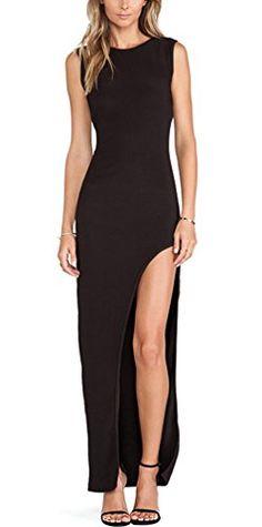 Oure Women Knit Back Hollow Elegant Side Split Slim Maxi Long Party Dress Xs Oure http://www.amazon.com/dp/B0142KMC8Q/ref=cm_sw_r_pi_dp_K8U1vb197BJX0