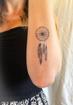 """Don't let someone else catch your dreams. You be the Dreamcatcher."" Package includes 2 Dreamcatcher tattoos and directions for application. Tattoos typically last 2-7 days depending on care and skin"