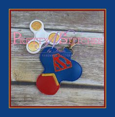 ITH Solargirl Hero Spinner Keeper Key Fob Embroidery Design