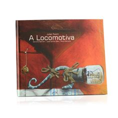The Locomotive by Julian Tuwim, is one of the most beloved children's poems in Polish literature, it's an onomatopeic ode to the steam train, full of rhythm and joy. Paulo Galindro illustrated this Portuguese translation of the famous masterpiece.