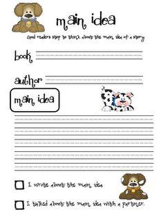math worksheet : 1000 images about main idea details on pinterest  main idea  : Main Idea Worksheets Kindergarten